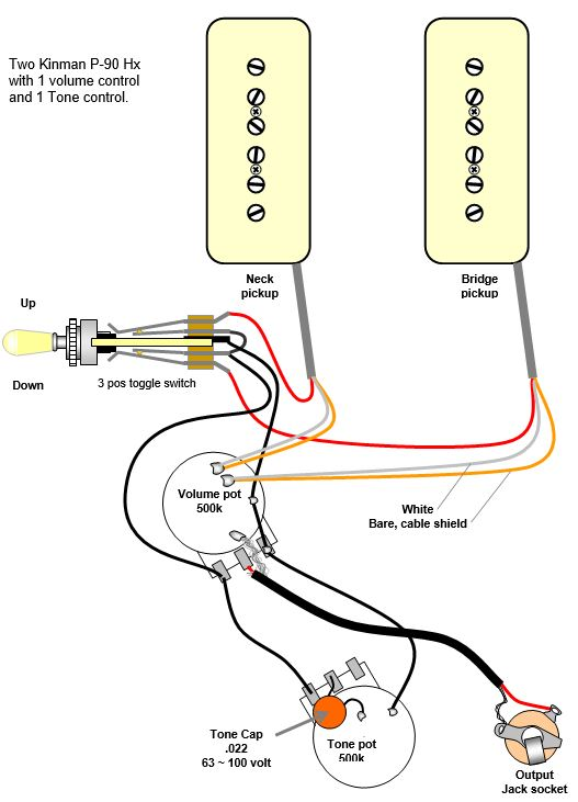 Install Guide For P 90 Hx, P90 Pickup Wiring Diagram